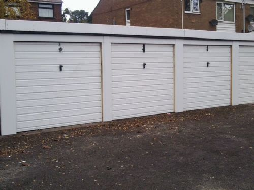 6 garage doors - up and over.